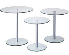 Glazen bijzettafel: Circle