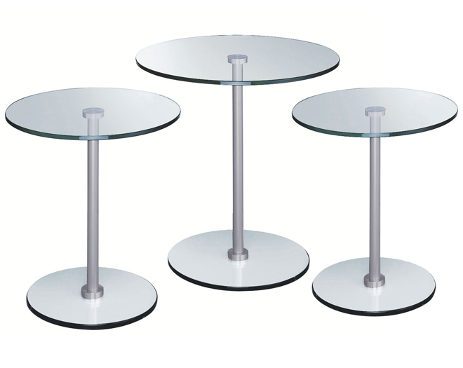Glas Occassional table: Circle