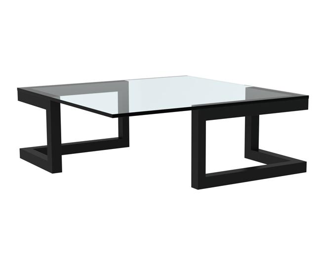 Duo glazen salontafel