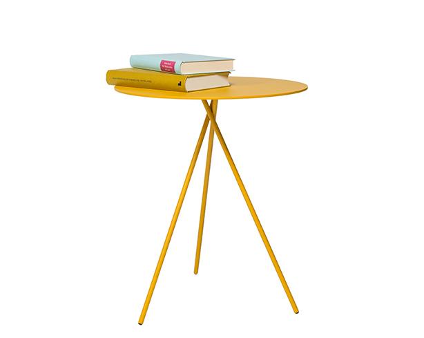 Mindy design bijzettafel geel